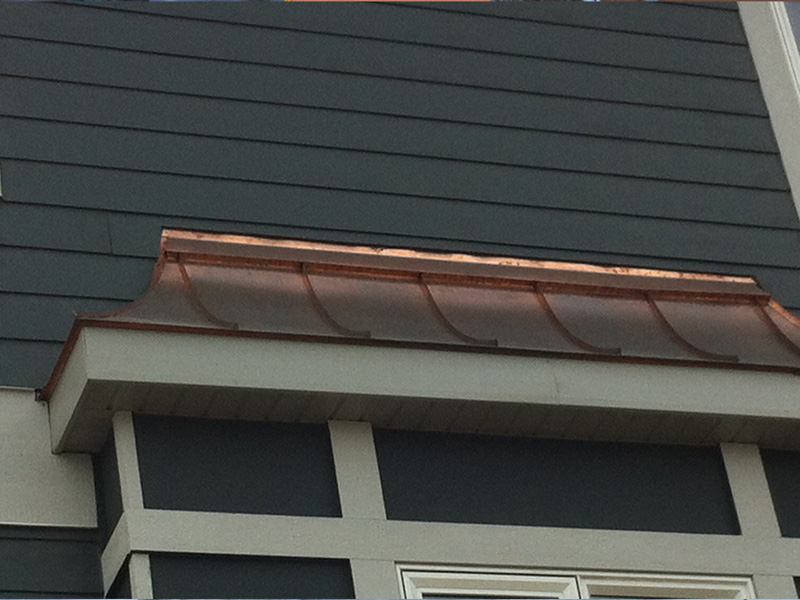 "Slightly Aged Copper – 1 ½"" Standing Seam"