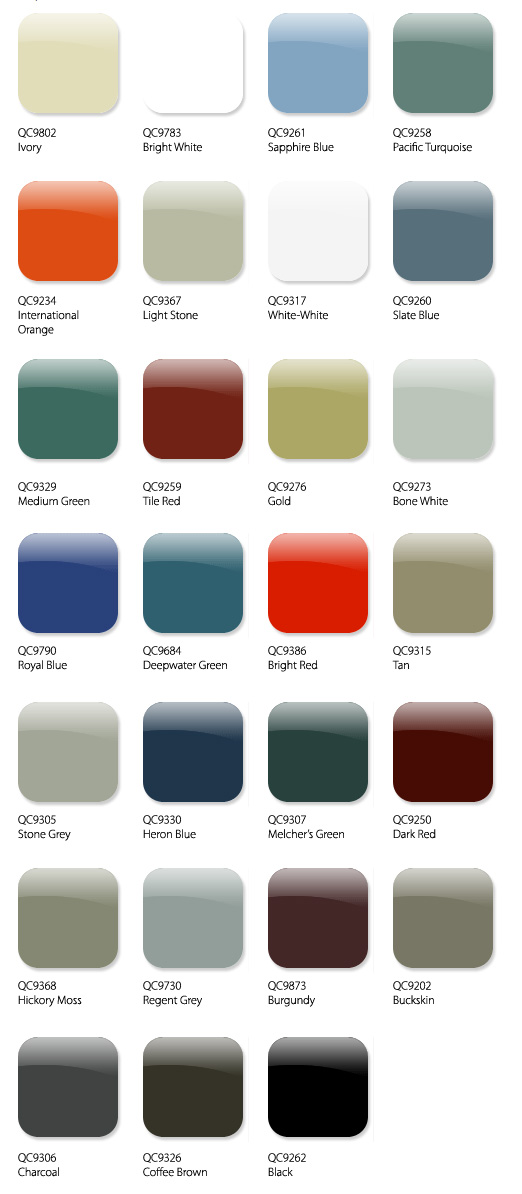 Metal Roofing and Siding Colour Swatches for Metalworks Calgary